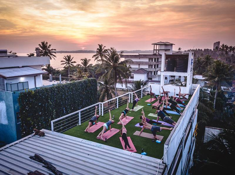 1. Relax and recover with a yoga session at our Sri Lanka surf and yoga camp, The Surfer - The best surfing and yoga retreat in Sri Lanka and South Asia.