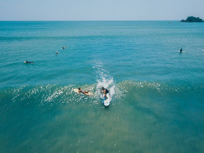 2. Surfing in Arugam Bay, The Surfer - The best surfing and yoga retreat in Sri Lanka and South Asia.